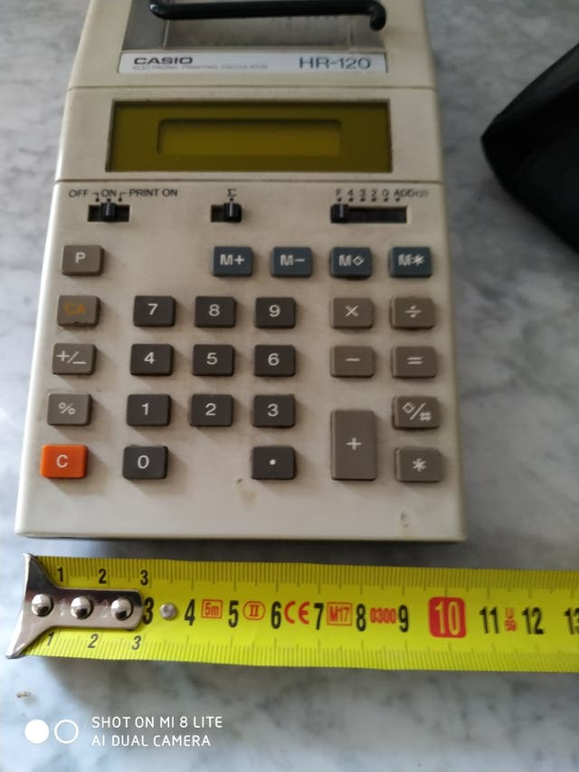 Calculadora Casio HR-120 vintage