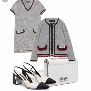Chaqueta tipo Chanel de Zara