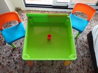 Mesa de JUEGOS Infantil. Desmontable