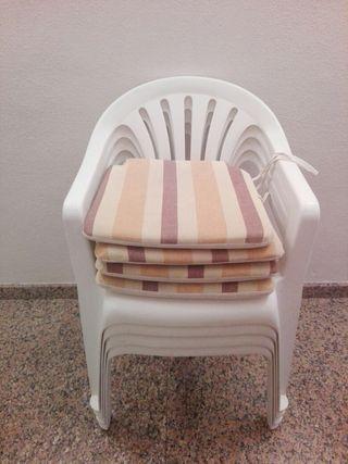 sillas blancas pvc