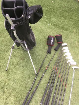 Juego palos de golf y bolsa Top Flite.