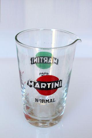 Pequeño vaso publicidad Martini Seco y Normal