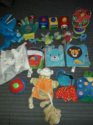 lote juguetes bebé a partir de 3 meses