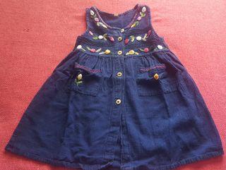 Vestido niña sin mangas (talla 2 a 3 años)
