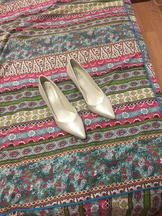 Zapato Tacón Blanco para Novia