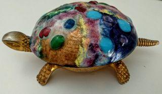 Timbre de sobremesa, llamador en forma de tortuga