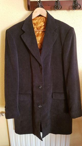 abrigo pana azul marino