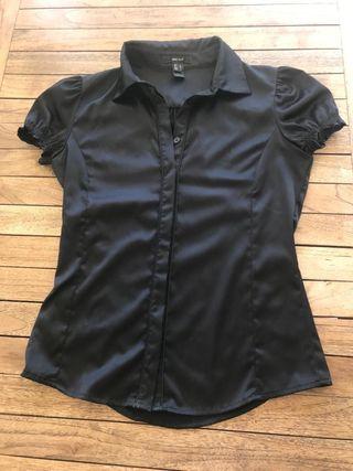 Camisa manga corta negra