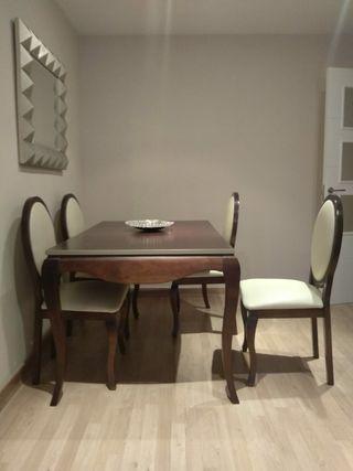 muebles de madera,salón comedor completo