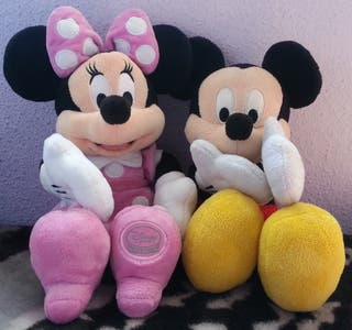 minnie/mickey mouse peluches disney store