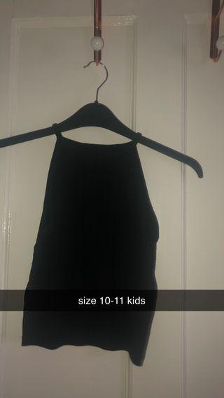 black strapy vest