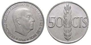 Moneda 50 céntimos de 1966