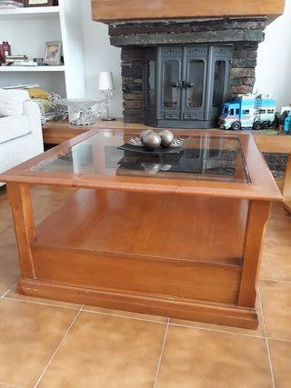 Mesa de sofá madera para restaurar