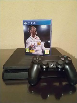 PlayStation 4 Slime de 500GB + Mando + FIFA 18