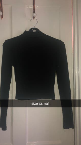 long sleeve black top