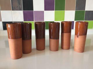 Vasos de tubo de barro para cerveza