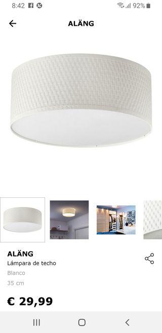 Lampara de techo ALÄNG de Ikea.