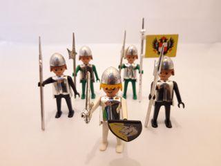 lote medievales antiguos pecho cromado playmobil