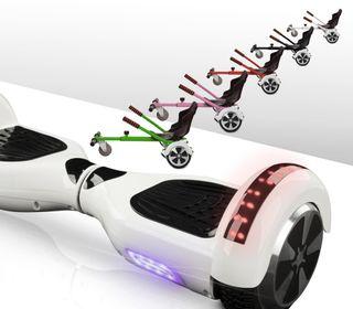 Hoverboard bluetooth blanco + kart asiento nuevo