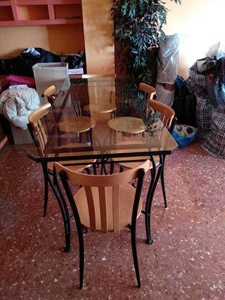 Mesa comedor forja de segunda mano en Valencia en WALLAPOP