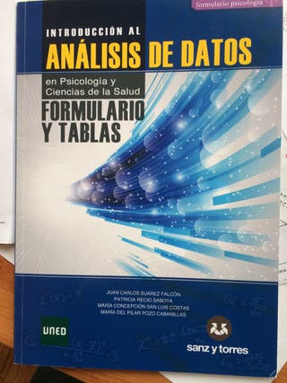 Formulario y tablas analisis de datos uned