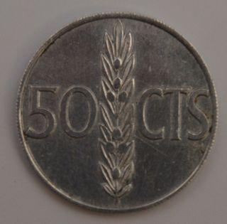 Moneda 50 centimos de peseta 1966