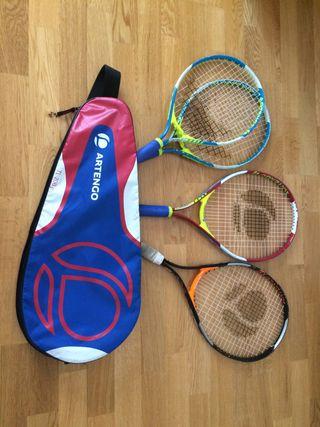 Raquetas tenis junior