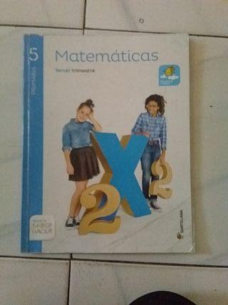 libro de matematicas de 5