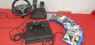 Ps4 + volante + mando + juegos