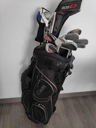 palos de golf + bolsa de regalo