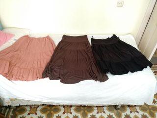 lote 3 faldas largas