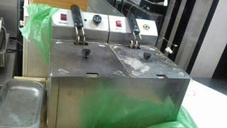 freidora industrial doble
