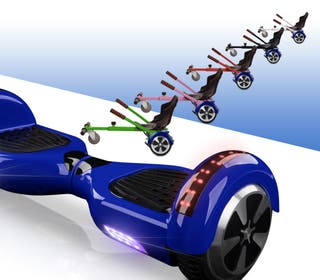 Hoverboard bluetooth + kart asiento silla AZUL