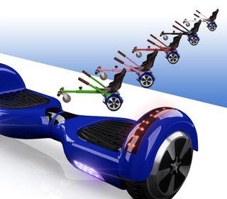 Hoverboard bluetooth azul + kart asiento nuevo