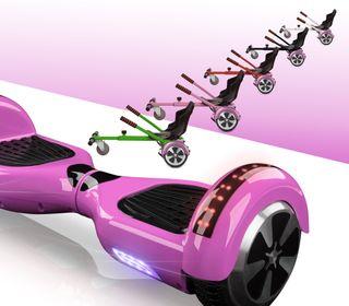Hoverboard bluetooth rosa + kart asiento nuevo