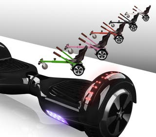 Hoverboard bluetooth + kart asiento silla NEGRO