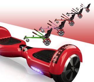 Hoverboard bluetooth rojo + kart asiento nuevo