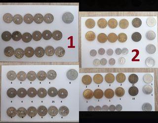 monedas varias españolas
