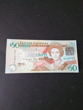 50 Dólares Caribe Este. SC
