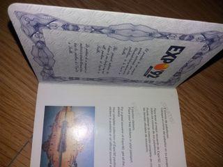 Pasaporte Expo'92 de Sevilla