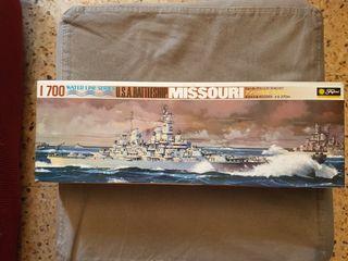 Maqueta barco, acorazado USS MISSOURI de Fujimi.