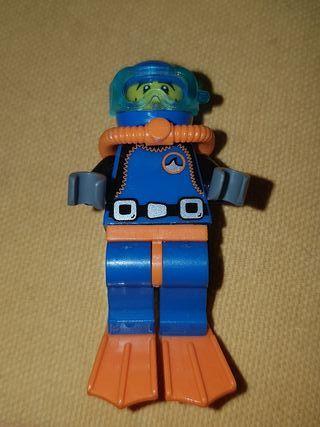 minifigura submarinista serie 1 lego original