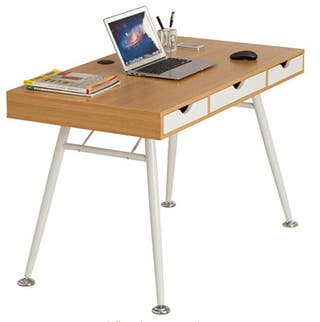 Retro style computer laptop writing desk table
