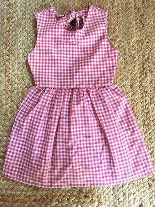Vestido de Niña T5 años nuevo hecho a mano