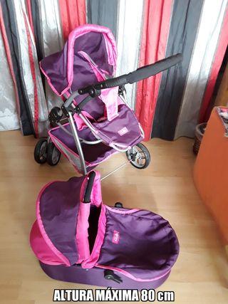 carrito de muñecas silla y capazo