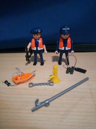 policías guarda costas de playmobil