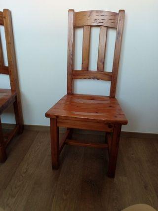 sillas de madera maciza ( 6 )