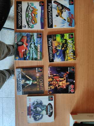 7 manuales playstation 1 ps1 psx tomb raider caspe