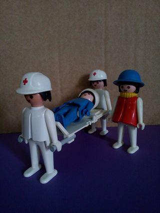 Playmobil camilleros manos fijas