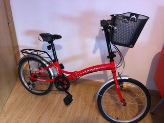 Bicicleta plegable boomerang+ bombin+candados